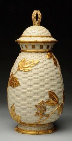 Royal Worcester Large Covered Vase.