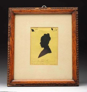 Framed Silhouette Of Lady.