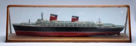 Scratch - Built Model Of Ss Us Boat In Case.