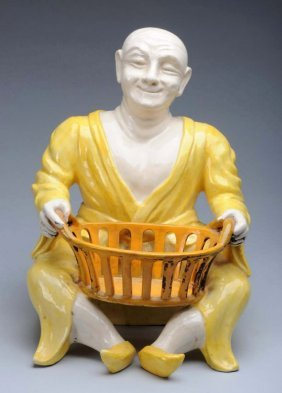 Italian Faience Man With Bowl.