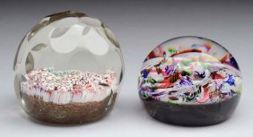 Lot Of 2: Baccarat & Millefiori Paperweights.