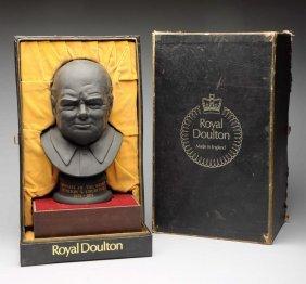 Royal Doulton Statue Of Sir Winston Churchill.