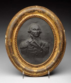 Early 19th C. Bronze Plaque Of George Washington.