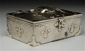 English Silver Arts And Crafts Box