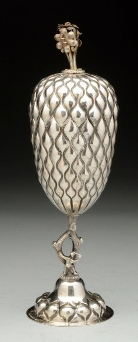 Judaica Portuguese Silver Pineapple Cup.