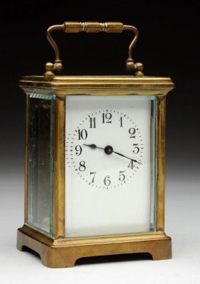 French Brass Carriage Clock.