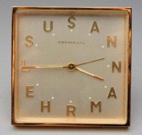 Tiffany Bronze Desk Clock.