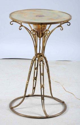 Art Nouveau Muller Freres Bronze Luminaire.