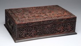 Fine Chinese Camphor Wooden Hinged Box.