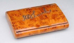 Burle Wood Snuff Box.
