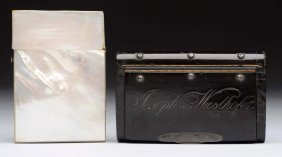 Lot Of 2: Card Cases.
