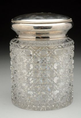 Brilliant-cut Glass Tobacco Jar.
