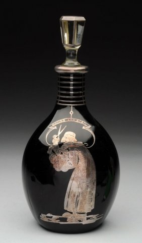 Sterling Silver Overlay Decanter.