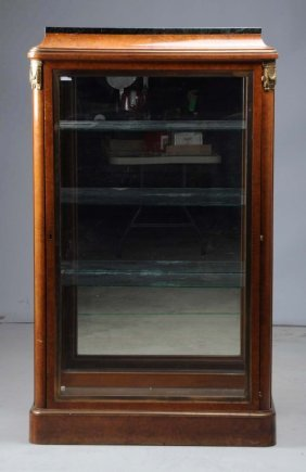 Large Wooden & Bronze Display Case.