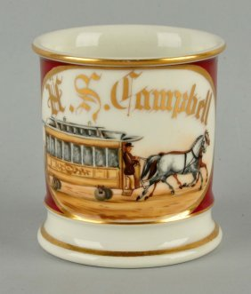Horse Drawn Trolley Shaving Mug.