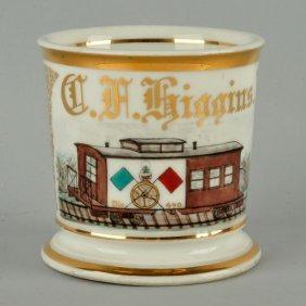Railroad Fraternal Shaving Mug.