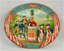 Old Pepper Whiskey Tin Litho Tray