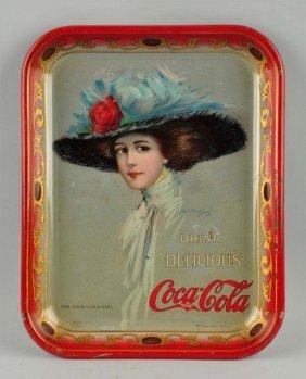 1910 Drink Delicious Coca-cola Advertising Tray.