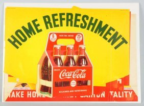 1941 Coca-cola Grocery Store Complete Banner Set.