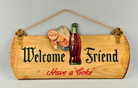 Diecut Coca-cola Sprite Boy Advertising Sign.