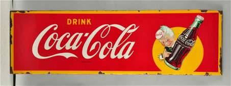 Drink Coca - Cola Sprite Boy Porcelain Sign.