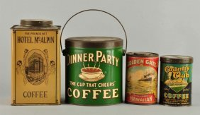 Lot Of 4: Early Coffee Tins.