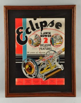 Eclipse Lawn Mower Advertising Poster.