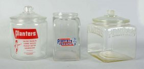 Lot Of 3: Planters Peanuts Jars.