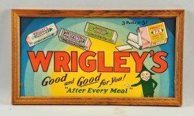 Wrigleys Gum Cardboard Sign.