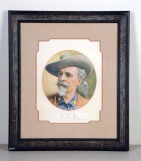 Buffalo Bill Cody Print - Signed.