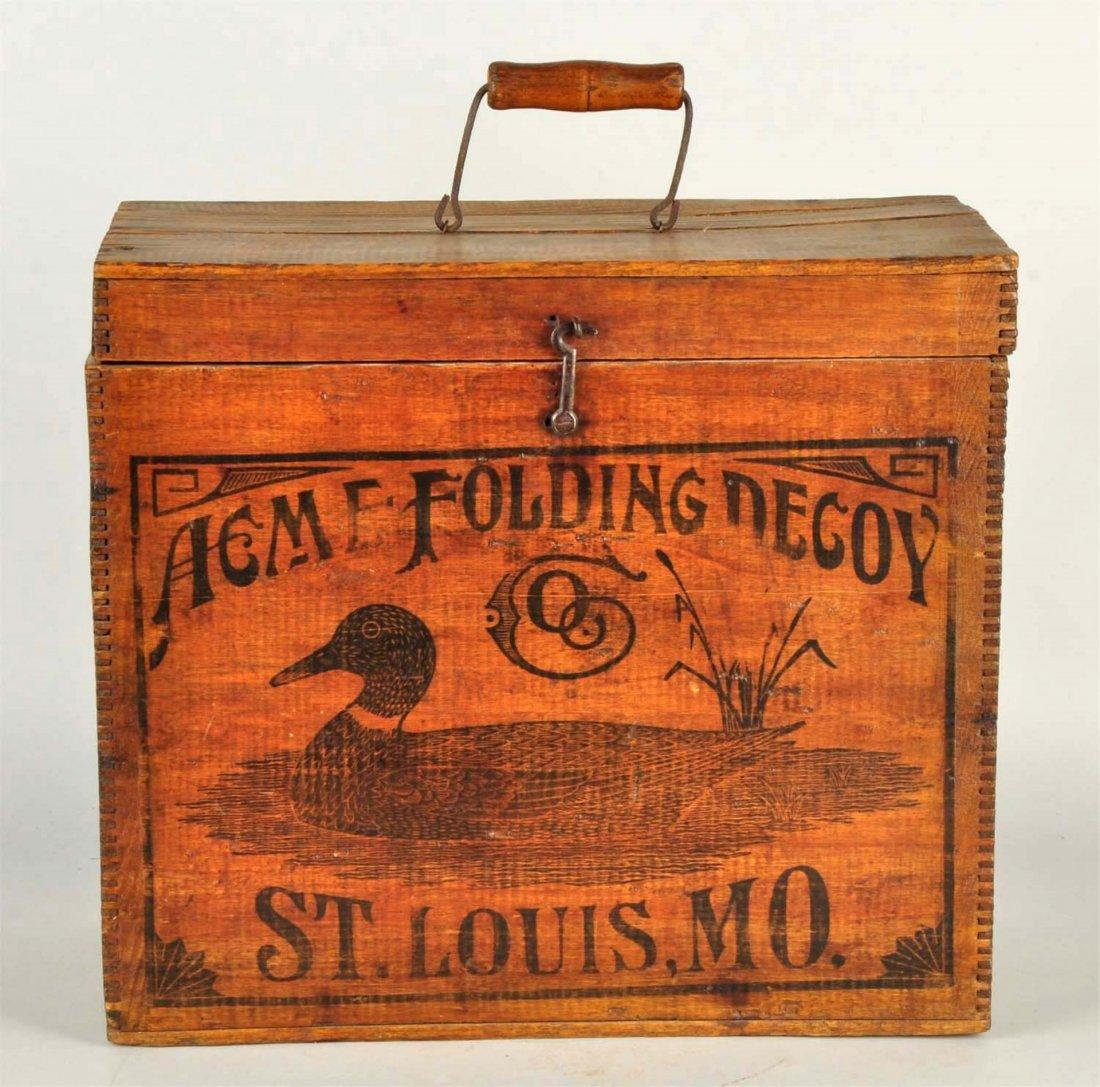 Acme Folding Duck Decoy Wooden Box.