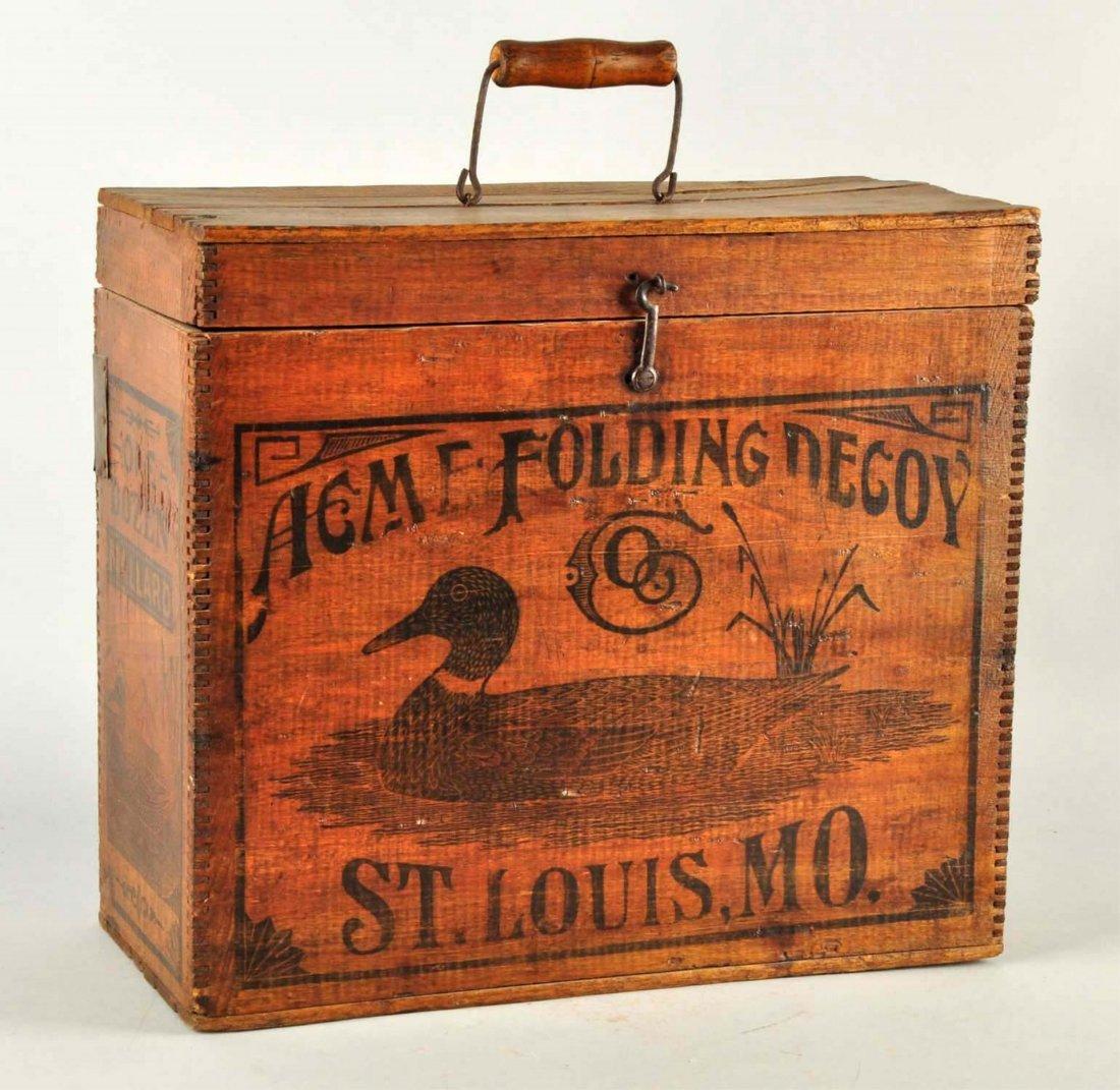 Acme Folding Duck Decoy Wooden Box. - 2