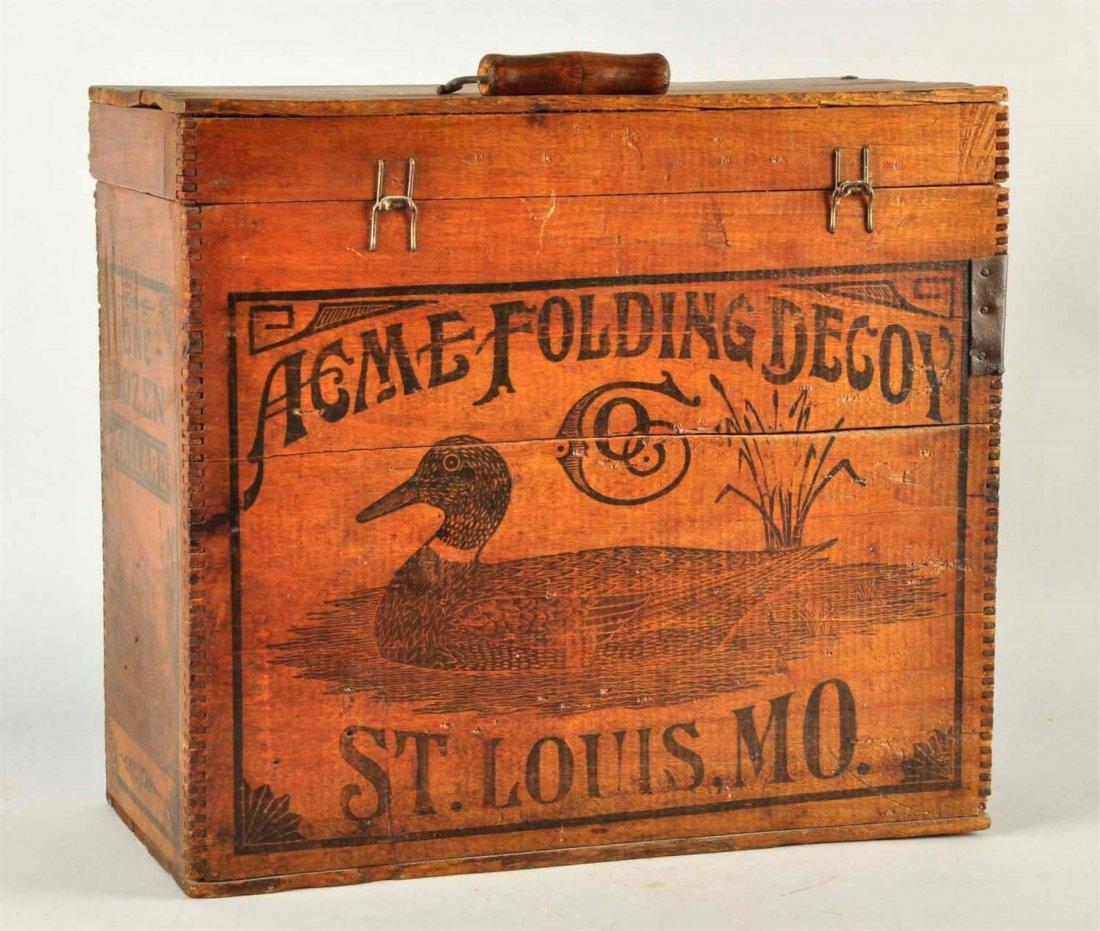 Acme Folding Duck Decoy Wooden Box. - 3