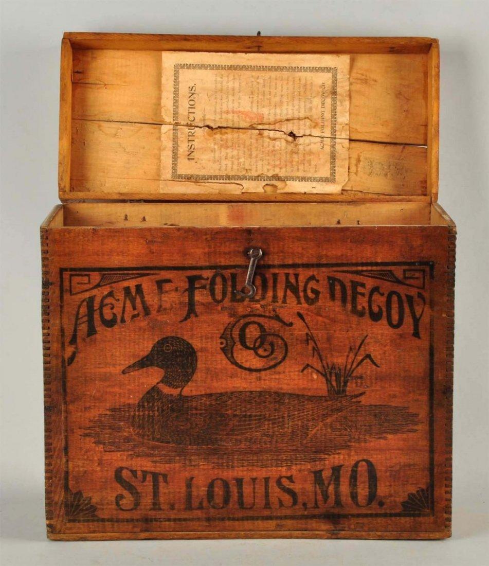Acme Folding Duck Decoy Wooden Box. - 6