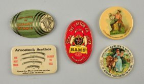 Lot Of 5: Advertising Pocket Mirrors.
