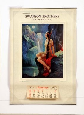 1927 Swanson Brother Calendar - Native American.