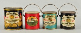Lot Of 4: Early Peanut Butter Tins.