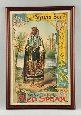 Sitting Bull Combination Advertising Poster.