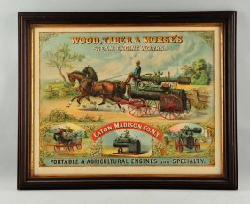 Wood Taber & Morse's Steam Engine Works Poster.