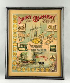 Vermont Farm Machine Company Advertising Poster.