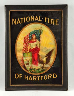 National Fire Of Hartford Advertisement Sign.