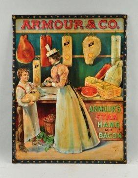 Self Framed Embossed Armour Star Hams Sign.