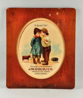J.m. Doud & Co. Union Stock Yards Live Stock Sign.