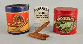 Plow Boy Cigar Container & Possum Tin.