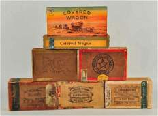Lot of 6 Early Cigar Boxes with Paper Label