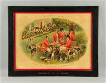 Caswell Club Cigar Paper Advertising Sign