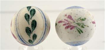 Lot of 2 Early Period China Marbles