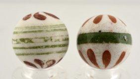 Lot Of 2: Pinwheel China Marbles.