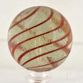 Double Latticino Ribbon Marble.