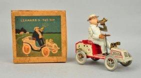 German Tin Litho Wind Up Tut-tut Automobile.